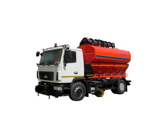 Машина комбинированная КО-806-20 с поливомоечным (насос НЦ), распределяющим, щеточным и плужным оборудованием фото